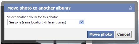 How to move photos from one album to another in the new Facebook (3/3)