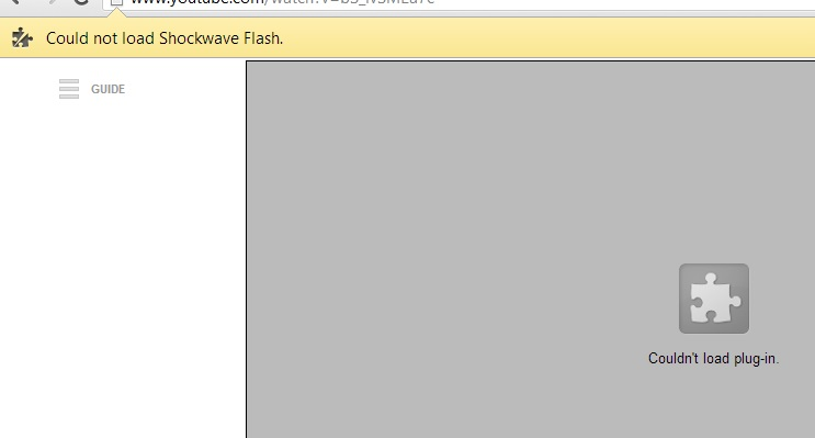How To Fix 'Could Not Load Shockwave Flash' Error In Google Chrome (1/6)