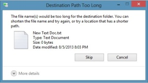 How to Fix 'File Path Too Long' Error While Copying, Deleting or