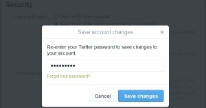 Confirm Twitter Password